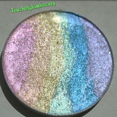 57mm WITH Compact Mermaid Fantasies Pastel Rainbow Duochrome Multisparkle…