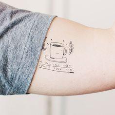 Oh delicious coffee | Tattoo temporária da Tattly, ilustração do Mike Lowery