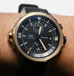 IWC Aquatimer Chronograph Charles Darwin Watch In Bronze Hands-On