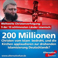 AfD an die Kirchen: Warum applaudiert ihr zur weltweiten Christenverfolgung durch den Islam? woelki