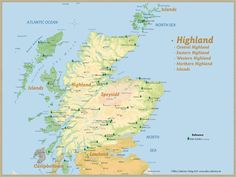 Whisky Regions of Scotland · Chart 14: Region Highland (Malt Distilleries (working)) www.alba-collecti...