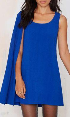 Fly Girl Asymmetrical Cape Dress