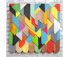 Wonder if I can get an entire wall for our studio built of Mike Perry's shingle patterns...