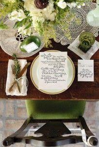 Green Dinner Party wedding