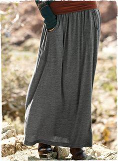 life your style: 10 Gaya Outfit Rok Panjang | Places to Visit ...