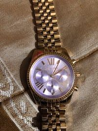 7dfacfd97 Used Round silver chronograph watch with link bracelet for sale in  Greenville