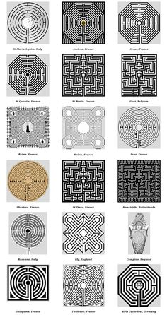 Church & Cathedral Labyrinths - Graphics