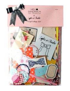 Hello Sandwich craft collage kit - a collage kit like this could be a great party favor for guests to take home after a crafting party!