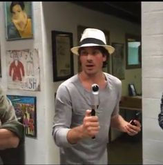 Ian Somerhalder hanging out at RYOT News Headquarters in Venice CA
