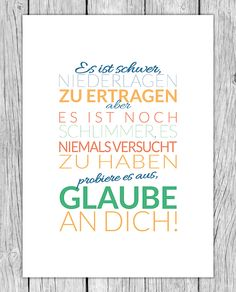 Motivationsposter – Glaube an Dich