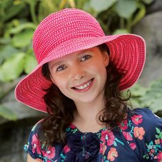 "Petite Paris Sun Hat. makes a charming sun hat for young ladies and women with petite head sizes. 50+ UPF. A perfect sun hat for cancer patients. Approximate ages 5-12 and women up to a 21.5"" head size."