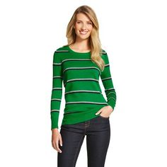 Women's Striped Pullover Sweater - Merona™