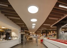 Spar supermarket flagship store by LAB5 architects, Budapest   Hungary groceries