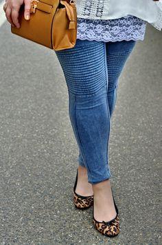 Große Größen Plus Size Fashion Blog - animal print leo ballerinas (flats), blue…