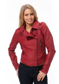 c56ae6ab87119 Dollhouse Lamb Touch Asymmetric Zip Moto Jacket with Diamond-Quilt Detail  and Pop Color Lining (bestseller)