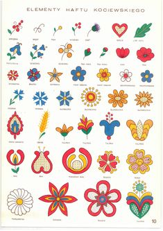 Pin by Mary Cuff on Crafts Polish Embroidery, Folk Embroidery, Embroidery Patterns, Hungarian Embroidery, Flower Embroidery, Folk Art Flowers, Flower Art, Drawing Flowers, Flower Ideas