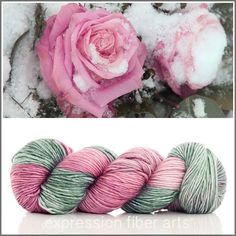 ICY ROSE SUPERWASH MERINO SILK PEARLESCENT WORSTED