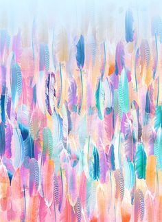Watercolor feathers wallpaper