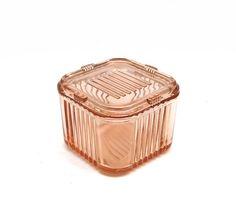 Pink Depression Glass Refridgerator Dish Covered by UncommonEye