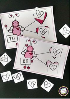 Classroom Freebies: Love Bug Number Bonds ~ Add and Subtract Tens