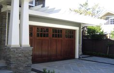 Image detail for -President Street Improvements: Front of House Facelifts - Modern Cheap Garage Doors, Double Garage Door, Garage Door Colors, Modern Garage Doors, Wood Garage Doors, Garage Door Design, Wooden Doors, Front Doors, Garage Exterior