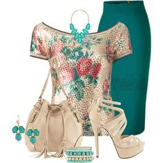 """Jean Paul Gaultier Vintage Flower Print Sequined Top"" by arjanadesign on Polyvore"
