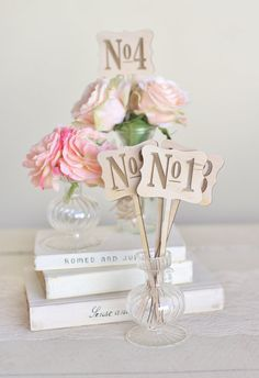Rustic Wood Table Numbers Vintage Inspired Wedding by braggingbags
