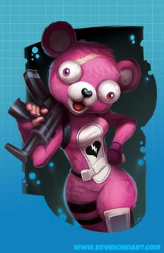 Fortnite Valenitesbear Bear Oso Rosa Pink Wallpapers