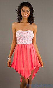Buy Strapless High Low Dress at SimplyDresses