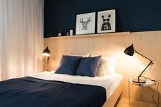 moderne slaapkamer #donkerblauw