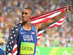 Ashton Eaton repeats as decathlon gold medalist