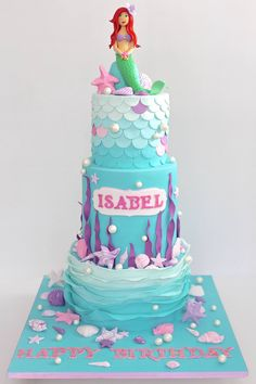 Mermaid cake but small scale.