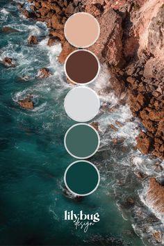 Cliff Ocean Colour Palette
