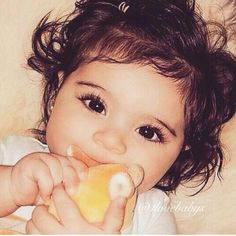 Eyes and those eyelashes ~ What a little doll baby!