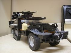 US ARMY M16 Halftrack Lego moc. Built it a few years back and still have it. Anti aifcraft variation armed with 4x50cal machine guns. Used extensively in WW2.
