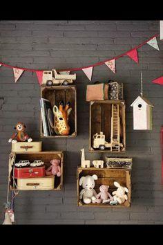 Vintage toy storage
