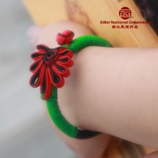 paired flower shape button closure