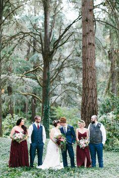Jewel Toned Bridal Party // Photography ~ Maria Lamb