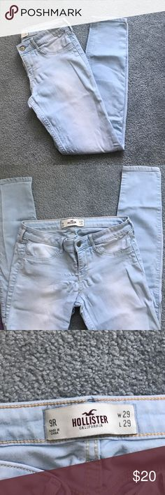 LIGHTWASH HOLLISTER SUPER SKINNY JEANS Like new, perfect condition Hollister Jeans Skinny