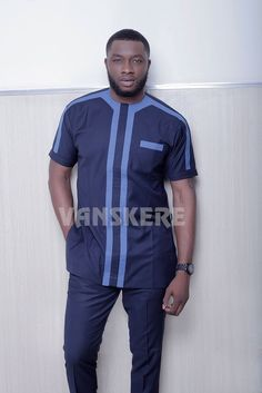 Ace menswear fashion designer Vanskere is out with its new classic collection. The signature style of Vanskere is made bold in these designs for the - BellaNaija Style. African Wear Styles For Men, African Shirts For Men, African Dresses Men, African Attire For Men, African Clothing For Men, African Wear Designs, African Clothes, African Style, Nigerian Men Fashion