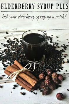 Now plain jane elderberry syrup is wonderful, don't get me wrong but you can make a good thing even better just by adding a few more ingredients. We are taking elderberry syrup and turning it into elderberry syrup plus! A must have for cold and flu season! #elderberrysyrup #immunebooster #flu #flufighter #naturalremedies #elderberry #herbalremedies Natural Health Remedies, Herbal Remedies, Flu Remedies, Natural Medicine, Herbal Medicine, Elderberry Medicine, Chinese Medicine, Elderberry Recipes, Elderberry Syrup Recipe Rose Hips