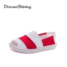 Womens Stripe and Bowknot Decor Cotton House Flat Soft Indoor Slippers