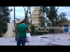 Learn watercolor lessons with Nitin Singh: Outdoor painting - YouTube