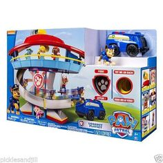 Nickelodeon Paw Patrol LOOKOUT PLAYSET Chase Figure & Vehicle Sounds NEW IN BOX #SpinMaster