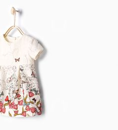 Image 1 of Butterflies jacquard dress from Zara Girly Outfits, Kids Outfits, New Dress, Dress Up, Baby Girl Dresses, Baby Girls, Jacquard Dress, Overall, Kid Styles