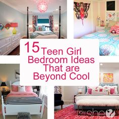 Home Decor: Teen girl bedroom ideas that are beyond cool. My daughter has had the black and hot pink bedroom going on a for a few years now and it's adorable, but we're thinking maybe it's time for a change. We hav