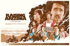 Raising Arizona Movie Poster By Joshua Budich