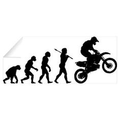 "Dirtbike Evolution 10""x 5""- WHITE DECAL Emerson http://www.amazon.com/dp/B00TVJS508/ref=cm_sw_r_pi_dp_Kvp6ub1RXHCB8"