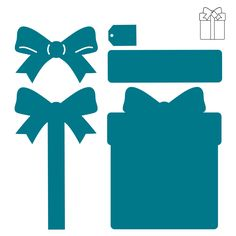 Use the Album-Present die to create great Christmas and birthday albums. You will receive two dies featuring the present shape as well as the accent pieces including a bow, tag and more!