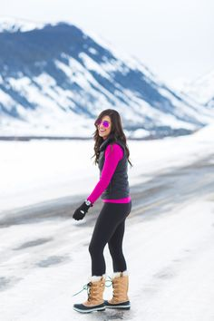patagonia prow vest, under armour cold gear mock turtleneck, pink mirror aviators, pink ray ban flash lens, sorel tofino cate boot, the north face e-tip glove, crested butte, colorado, snow outfit, outfits for snow, snow boot, sorel boot, cold weather gear // grace wainwright from a southern drawl